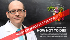 Dr Michael Greger MD v Ljubljani: How not to die?